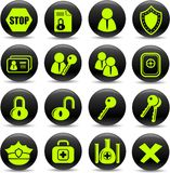 ikony ochrona Zdjęcia Stock