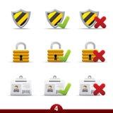 ikony ochrony serie ilustracji