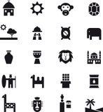 Ikony odnosić sie Afryka Zdjęcie Royalty Free