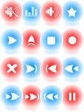 ikony odtwarzacz medialny ilustracja wektor