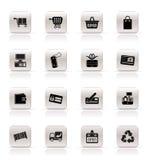 ikony online robić zakupy prostego Obraz Royalty Free