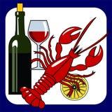 ikony owoce morza wektoru wino Zdjęcia Stock