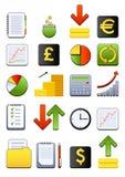 ikony pieniężna sieć ilustracja wektor
