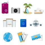 ikony podróż Fotografia Stock