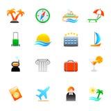 ikony podróż Obraz Royalty Free