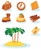 ikony podróż ilustracji
