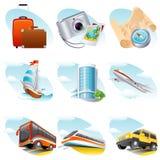 ikony podróż Obrazy Royalty Free
