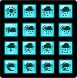 ikony pogoda Zdjęcie Stock