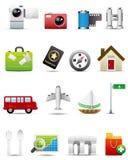 ikony premii serie ustawiająca podróż Ilustracja Wektor