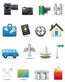 ikony premii serie ustawiająca podróż Royalty Ilustracja