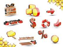 Ikony prosta sprzedaż Fotografia Stock