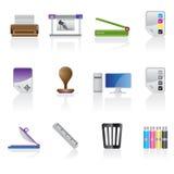 ikony przemysłu druku set Fotografia Stock