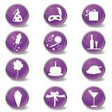ikony przyjęcie Fotografia Stock