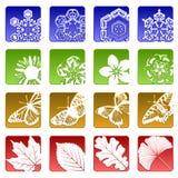 ikony przyprawiają szesnaście Obrazy Royalty Free