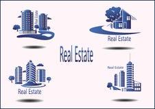 ikony Real Estate Zdjęcia Stock