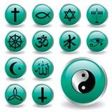 ikony religia Obraz Royalty Free