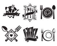 ikony restauracyjne ilustracji