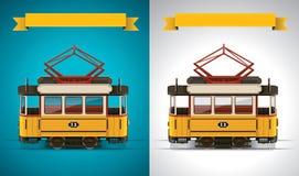 ikony retro tramwaju wektoru xxl ilustracja wektor