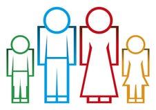 Ikony rodzina Zdjęcia Royalty Free