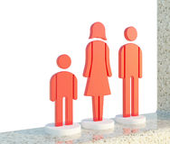 ikony rodzinna czerwień Zdjęcia Stock