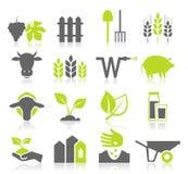 Ikony rolnictwo Obrazy Royalty Free