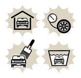 ikony samochodowa usługa ilustracji