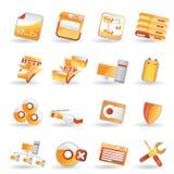 ikony serweru setu strona Zdjęcie Royalty Free