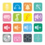 ikony setu dźwięk Fotografia Stock