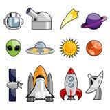 ikony setu przestrzeń Zdjęcia Stock