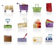 ikony setu sklep Zdjęcia Stock