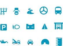 ikony setu transport Zdjęcia Royalty Free