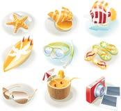 ikony setu wakacje wektor Zdjęcie Stock