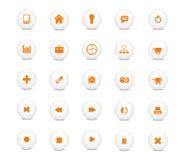 ikony sieć pomarańczowa ustalona royalty ilustracja
