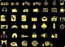 ikony sieć Obrazy Royalty Free
