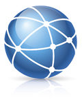 ikony sieci szeroki świat Obraz Royalty Free