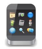ikony smartphone Obrazy Stock