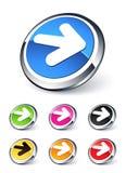 ikony strzałkowaty dobro Obraz Stock