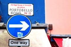 ikony sygnałowa ulica w London transporcie obrazy stock