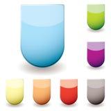 ikony szklany sheild ilustracji