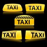 ikony taxi Obrazy Royalty Free