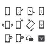 ikony telefonu setu majchery trzy ilustracji