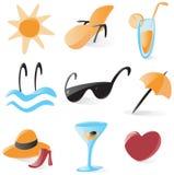ikony uciekają się gładkich wakacje Fotografia Stock