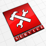 ikony usługa Fotografia Stock