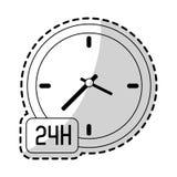 24 7 ikony usługowego wizerunku Obrazy Stock
