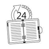 24 7 ikony usługowego wizerunku Zdjęcie Royalty Free