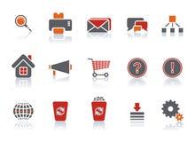 ikony ustalona sieć royalty ilustracja
