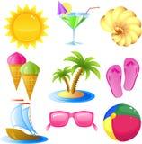 ikony ustalony podróży wakacje Ilustracja Wektor