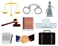 Ikony ustalony prawo Obrazy Stock