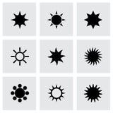 ikony ustalony słońca wektor ilustracja wektor