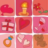 ikony ustalony valentine wektor Zdjęcia Royalty Free